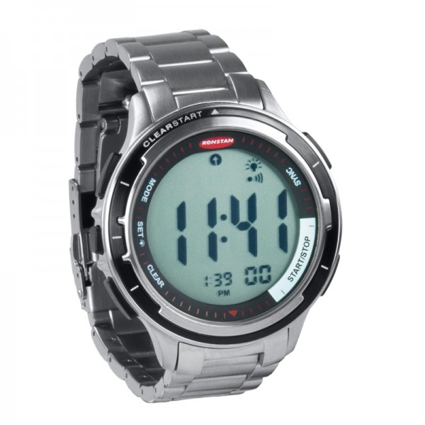 Ronstan Clear Start™ Regattauhr, S/S, Armband: Edelstahl