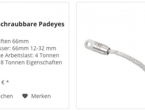 Removable Lashing Padeye im Tactix Bootszubehör Berlin Onlineshop