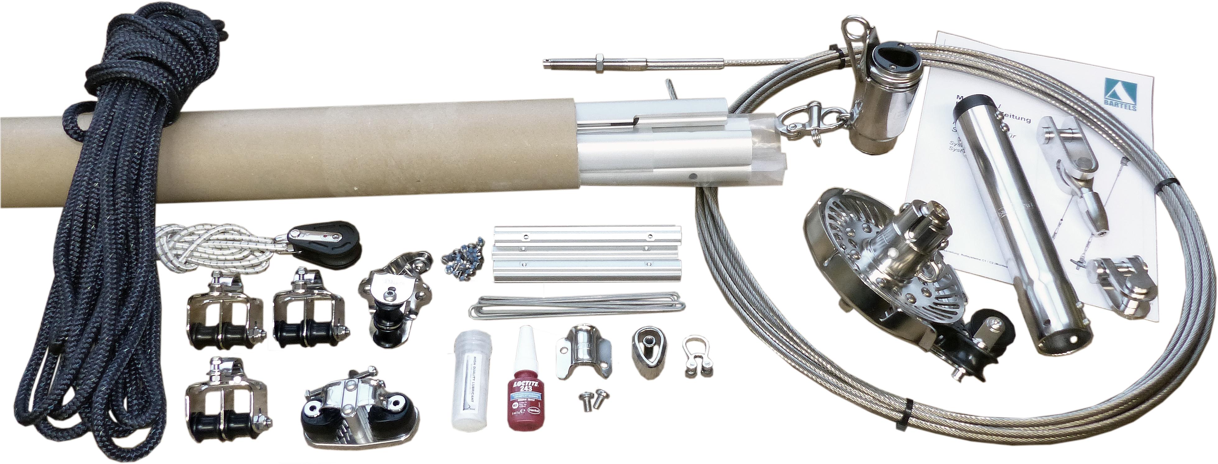 Bartels Rollanlage Rollreffsystem mit Profilvorstag